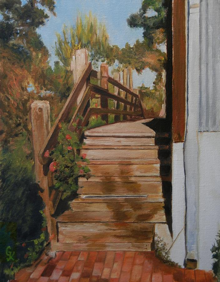 Stairs Painting - Crossover by George Kramer