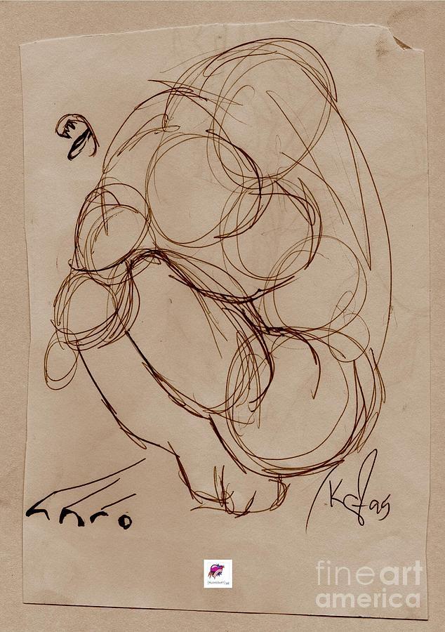 Body Drawing - Crouching Tiger by Carol Rashawnna Williams