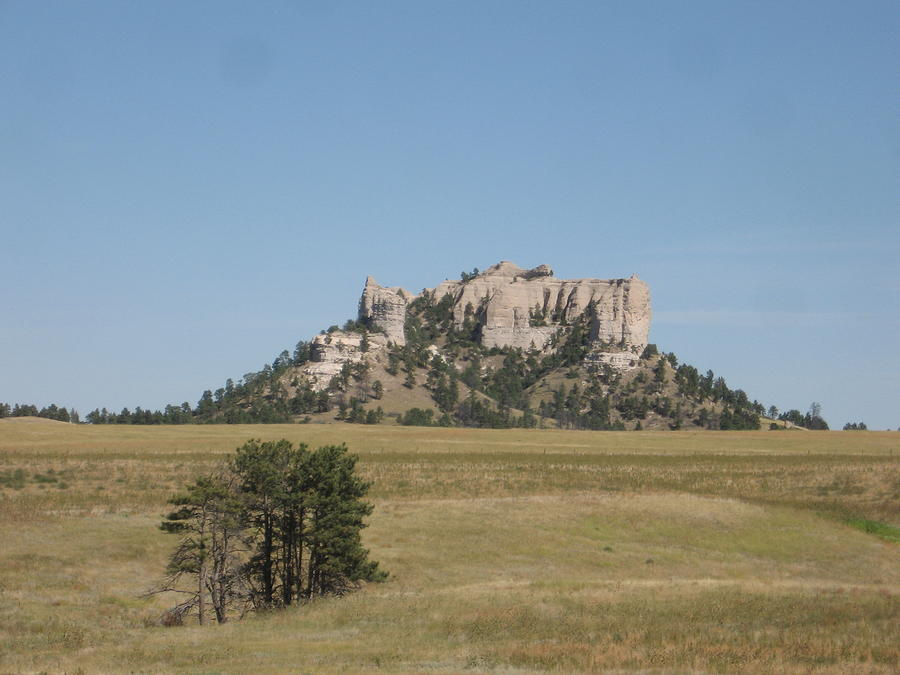 High Plains Photograph - Crow Butte by J W Kelly