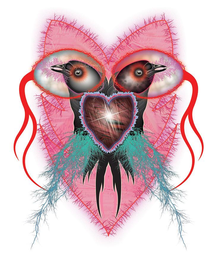 Bird Digital Art - Crow by Foltera Art