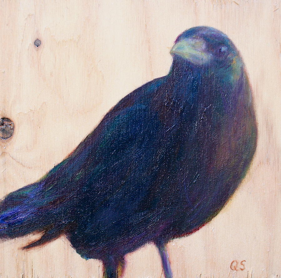 Crow Painting - Crow Friend by Quin Sweetman