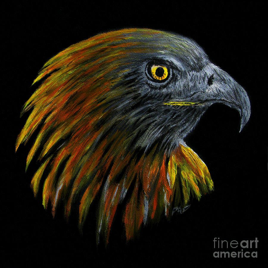 Bird Of Prey Painting - Crowhawk by Peter Piatt