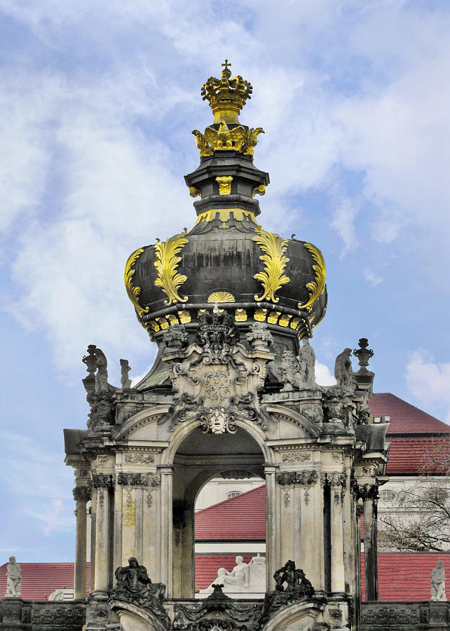 Crown Gate Photograph - Crown Gate - Kronentor Zwinger Palace Dresden by Christine Till