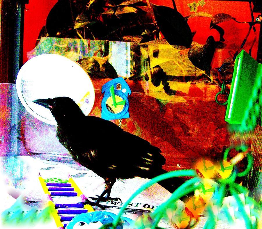 Crows Piano Mixed Media by YoMamaBird Rhonda