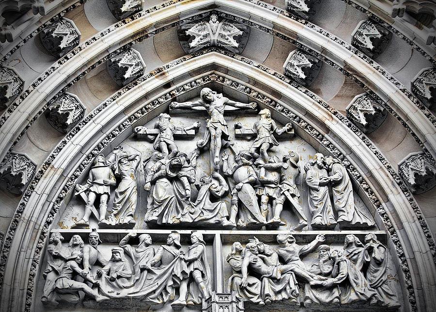 Vitus Photograph - Crucified Christ - Saint Vitus Cathedral Prague Castle by Christine Till