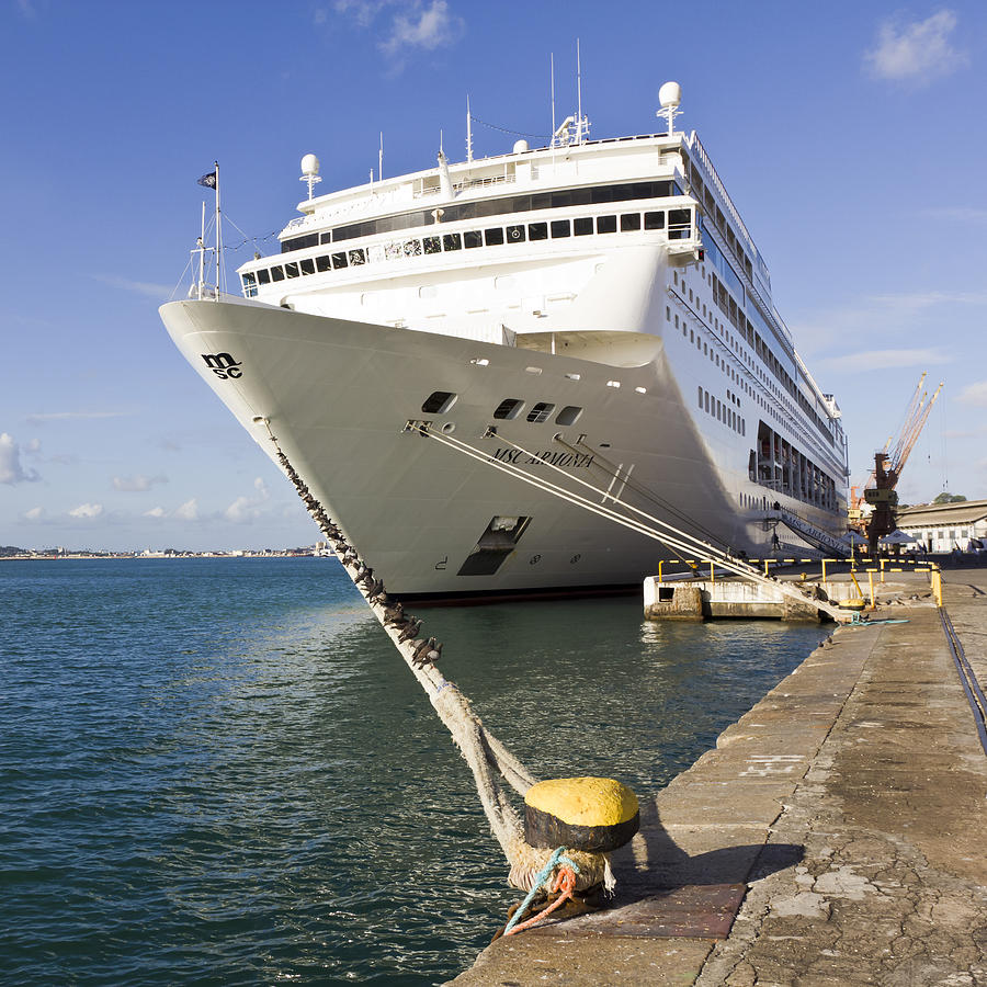 Cruise Ship Docked Photograph by Ken Hunter