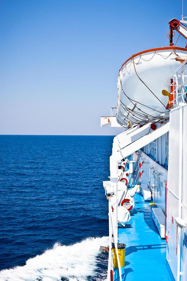 Aegean Photograph - Cruise Ship by Tom Gowanlock