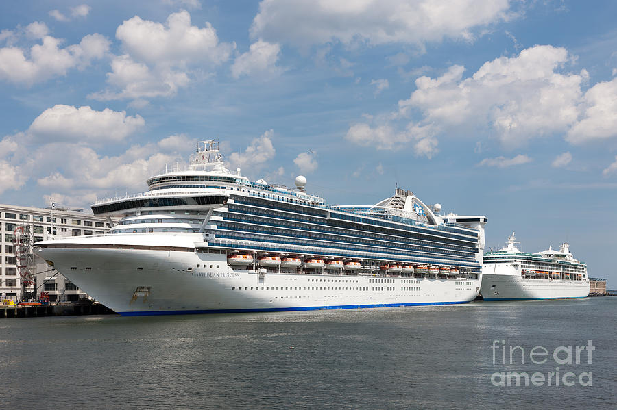 America Photograph - Cruise Ships At Cruiseport Boston by Clarence Holmes