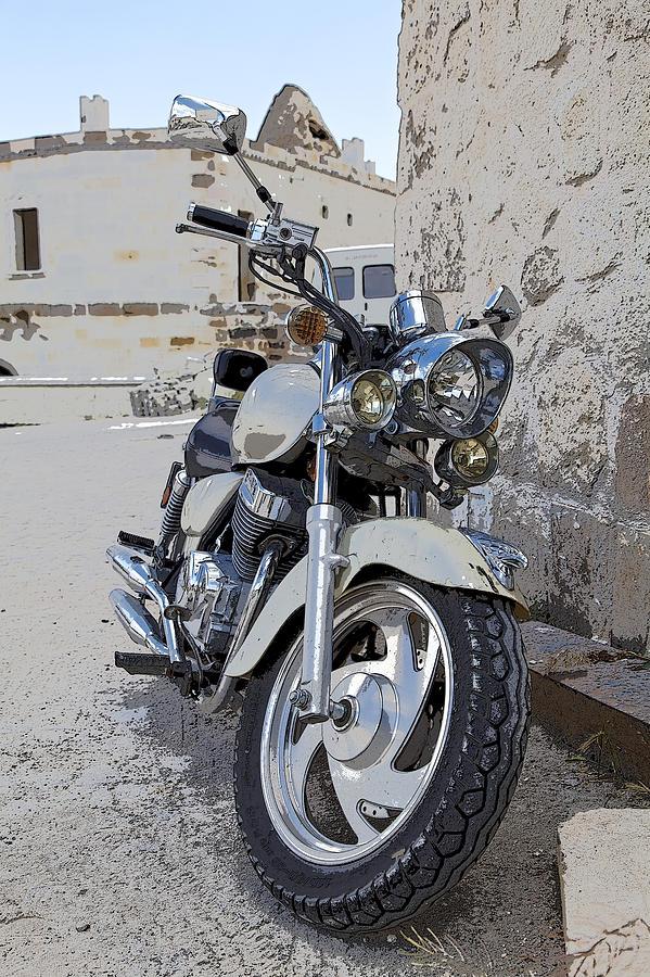 Interesting Photograph - Cruiser Motor Bike Turkey by Kantilal Patel