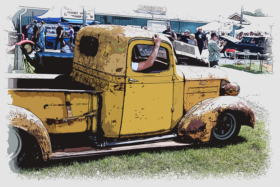 Hot Rod Photograph - Cruising The Old Chevy by Steve McKinzie
