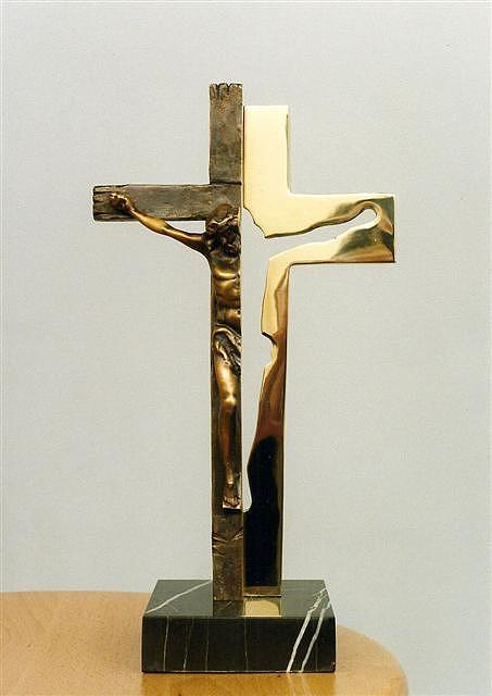 Crusifix Sculpture by Antonio Petrov