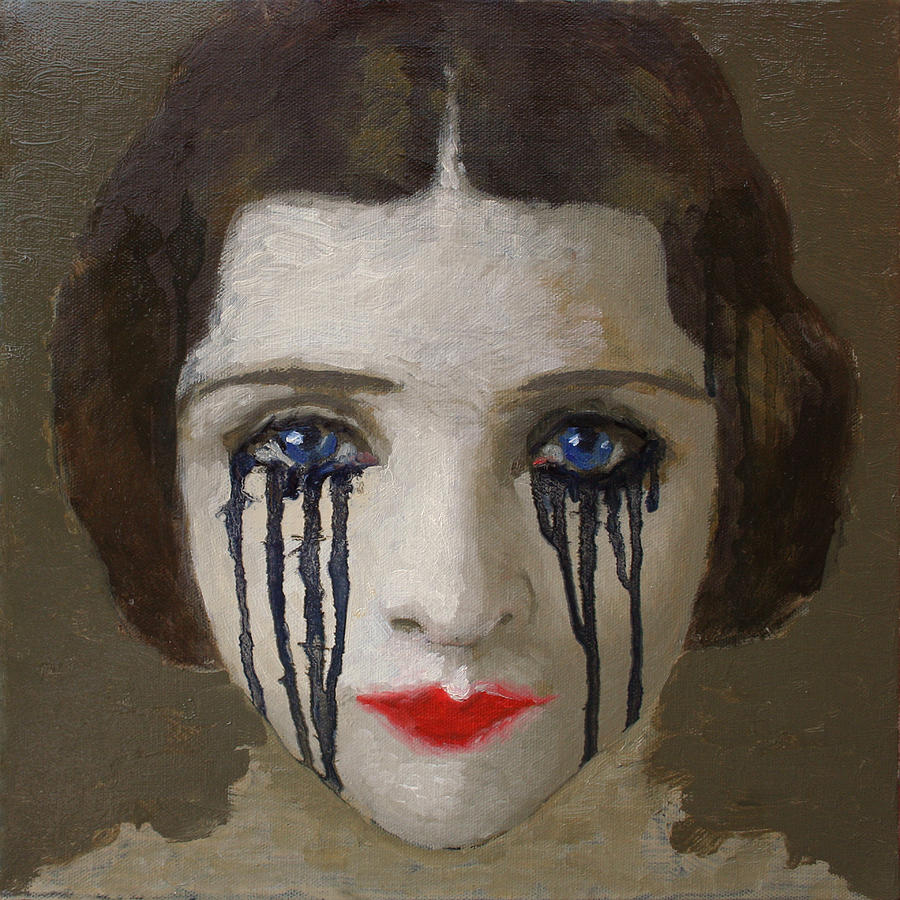 Painting Painting - Crying Woman by Ilir Pojani