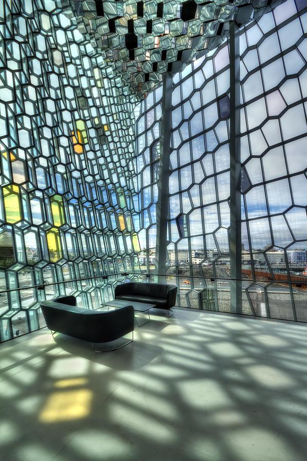 Harpa Photograph - Crystal Fantasy by Evelina Kremsdorf