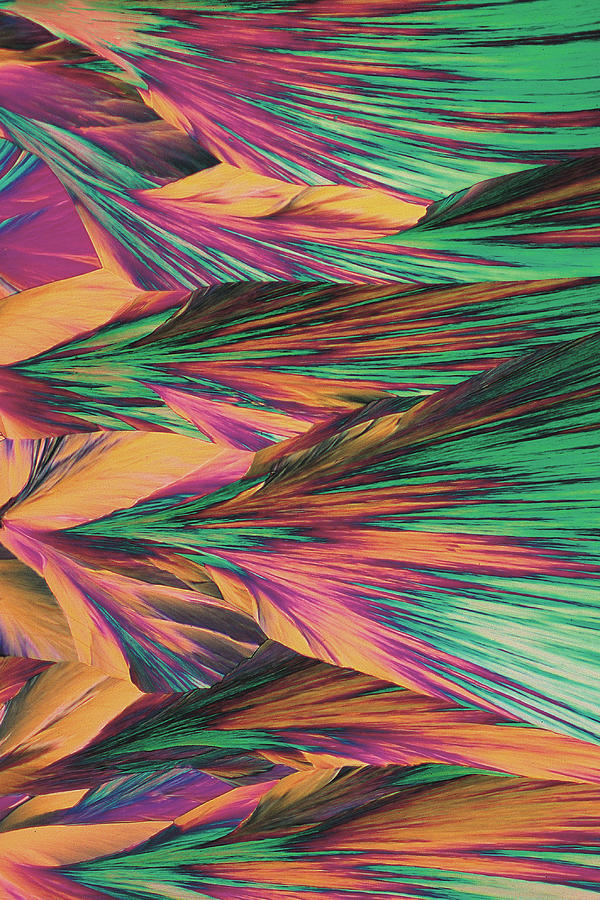 Vertical Photograph - Crystal Micro Structure by John Foxx