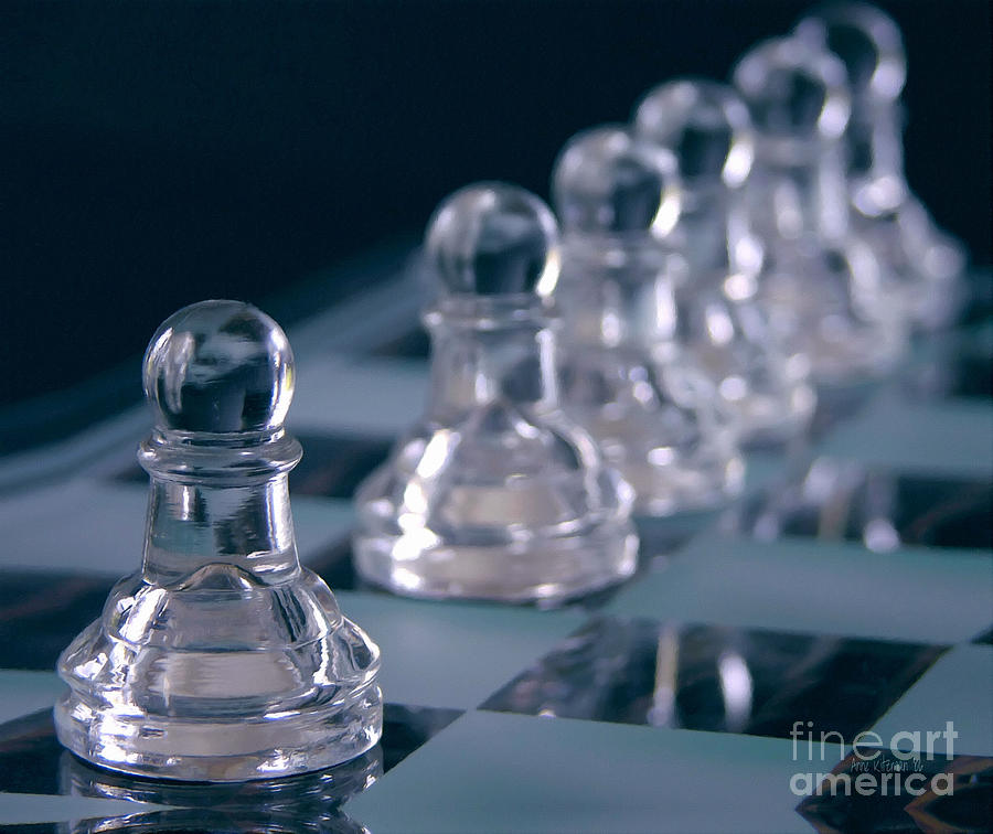 Chess Photograph - Crystal Pawns by Anne Kitzman