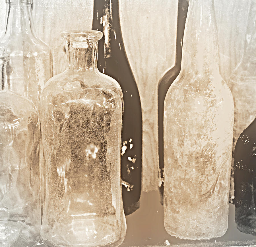 Bottles Photograph - Crystle by Diane montana Jansson