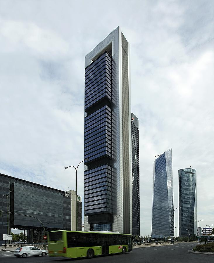 Torre Pwc Photograph - Ctba Skyscrapers, Madrid by Carlos Dominguez