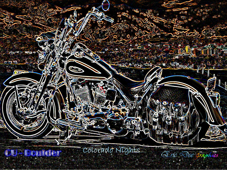 Cu Boulder Photograph - Cu Boulder Colorado Nights by Eric Dee