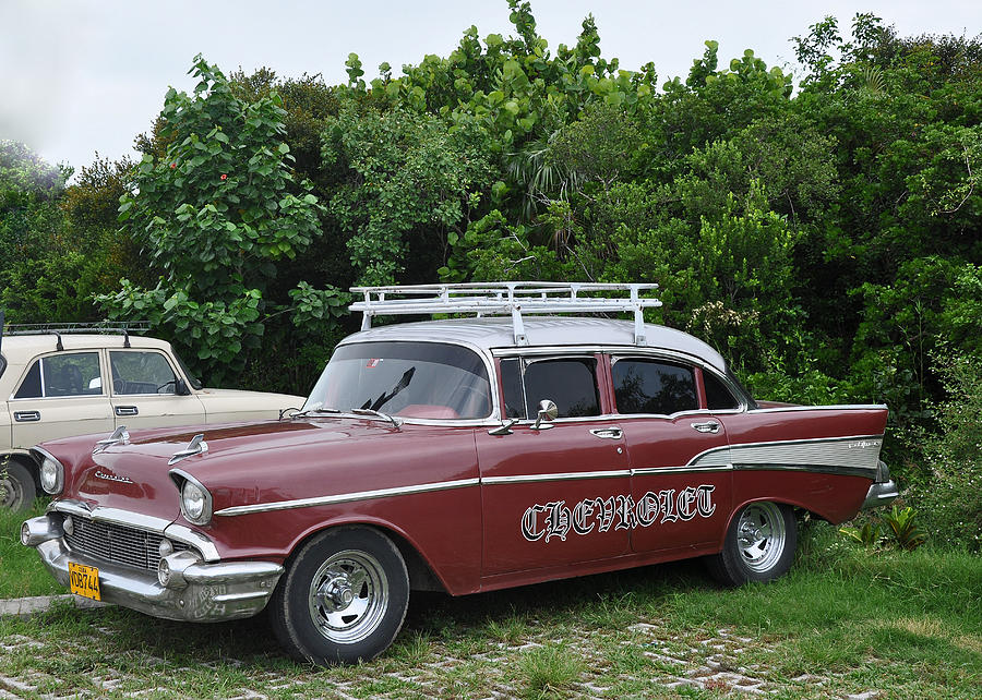 Cuba Photograph - Cuban Chevrolet by Colleen English