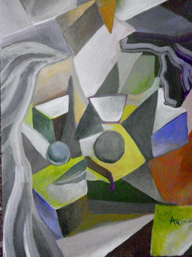 Cubist Painting - Cubist Kiss by Ben Arthur