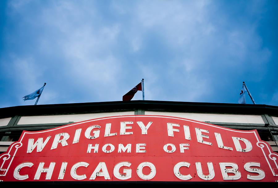 Cubs Sign Photograph By Anthony Doudt