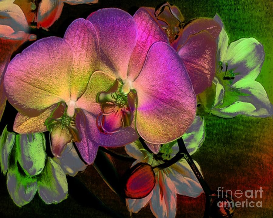 Orchidsl Digital Art - Cuddling by Doris Wood