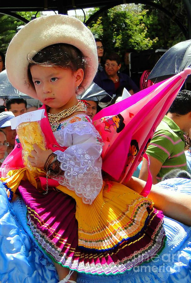 Canadian Photograph - Cuenca Kids 116 by Al Bourassa