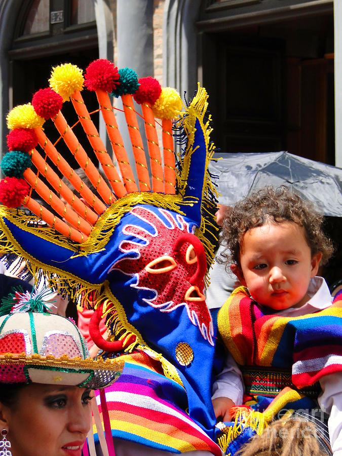 Canadian Photograph - Cuenca Kids 132 by Al Bourassa