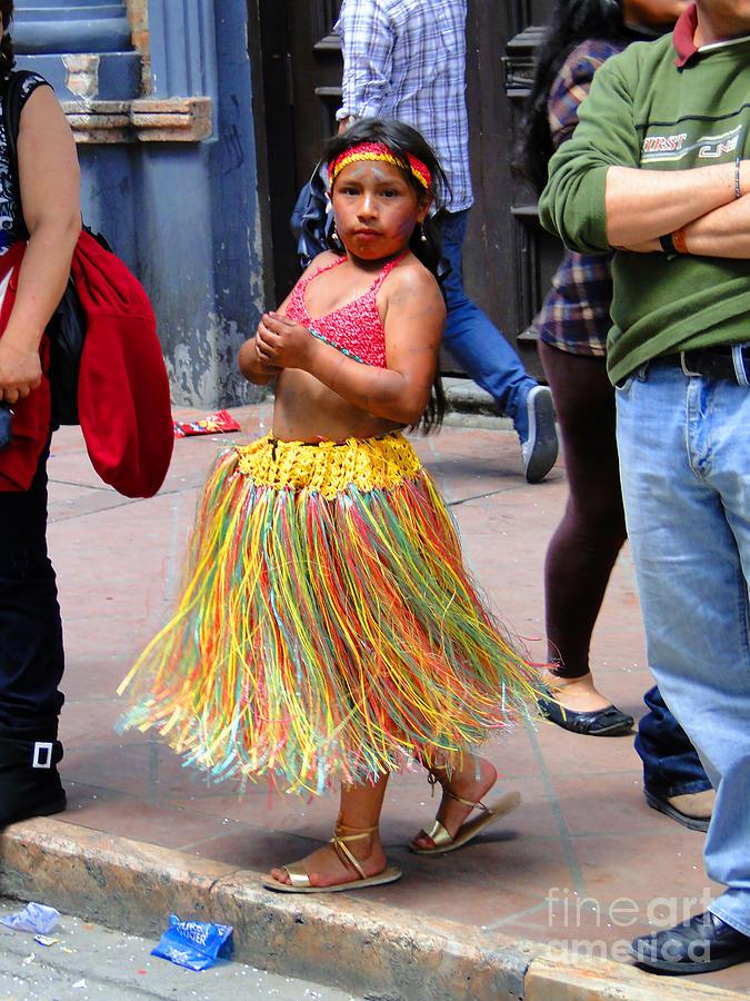 Canadian Photograph - Cuenca Kids 134 by Al Bourassa