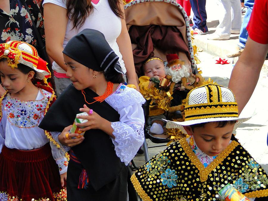 Canadian Photograph - Cuenca Kids 149 by Al Bourassa