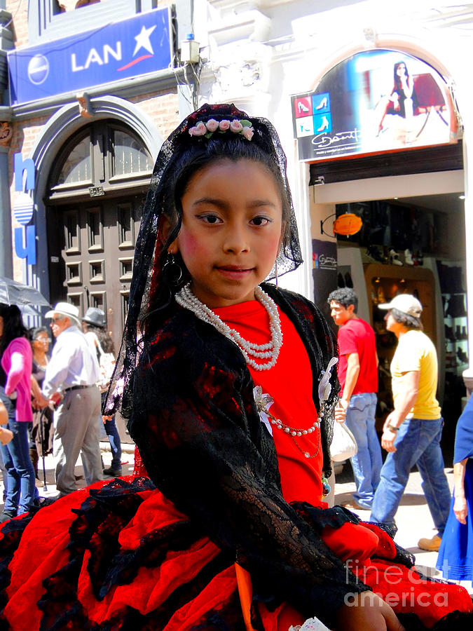 Canadian Photograph - Cuenca Kids 186 by Al Bourassa