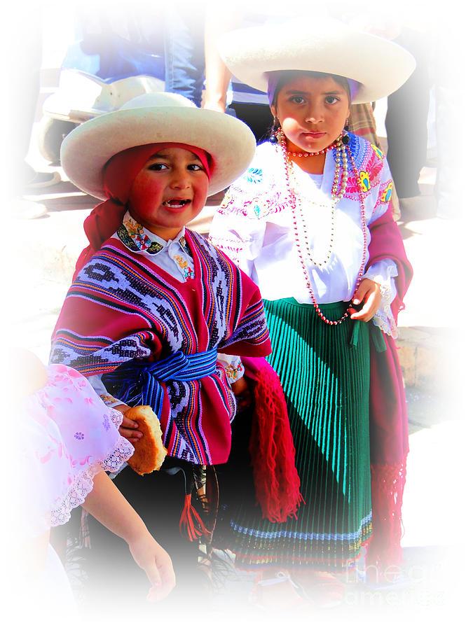 Canadian Photograph - Cuenca Kids 191 by Al Bourassa