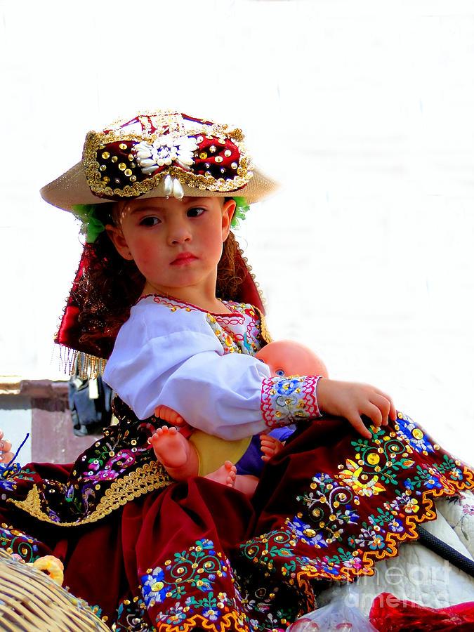 Canadian Photograph - Cuenca Kids 193 by Al Bourassa