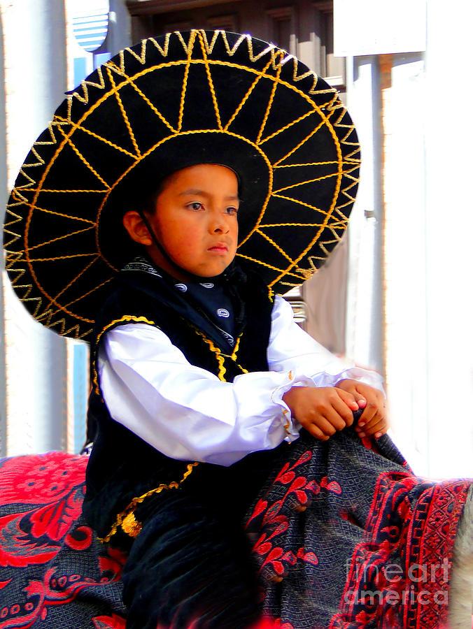 Canadian Photograph - Cuenca Kids 194 by Al Bourassa