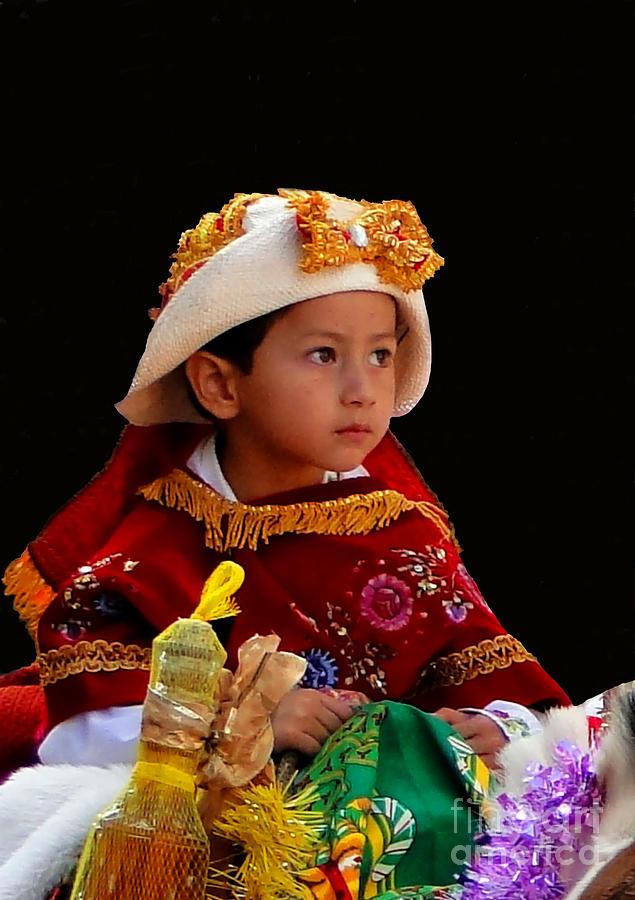 Kids Photograph - Cuenca Kids 196 by Al Bourassa