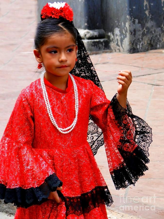 Girl Photograph - Cuenca Kids 209 by Al Bourassa