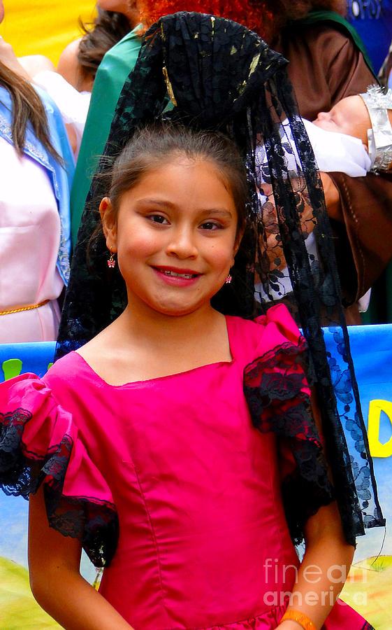 Girl Photograph - Cuenca Kids 213 by Al Bourassa
