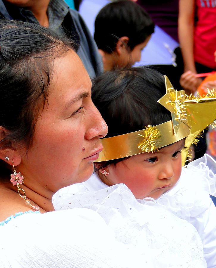 Okotoks Photograph - Cuenca Kids 44 by Al Bourassa