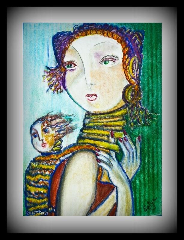 Women Painting - Cultural Beauty Tradition  by Satya Winkelman