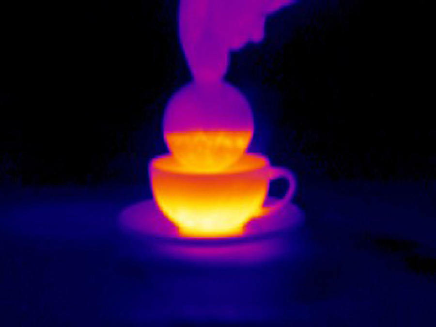 Tea Photograph - Cup Of Tea, Thermogram by Tony Mcconnell
