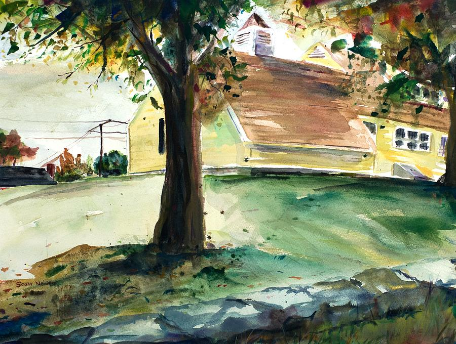 Yard Painting - Cupola by Scott Nelson