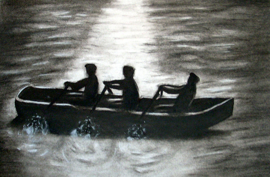 Boats Drawing - Curach by C Nick