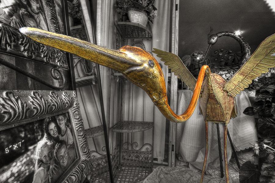 Statue Photograph - Curio Shop Window by John Herzog