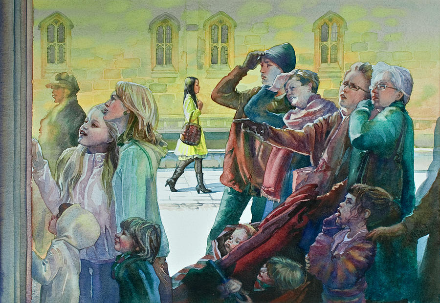 Cambridge Painting - Curiosity by Gilly Marklew
