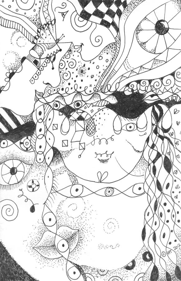 Surreal Drawing - Curiosity by Helena Tiainen
