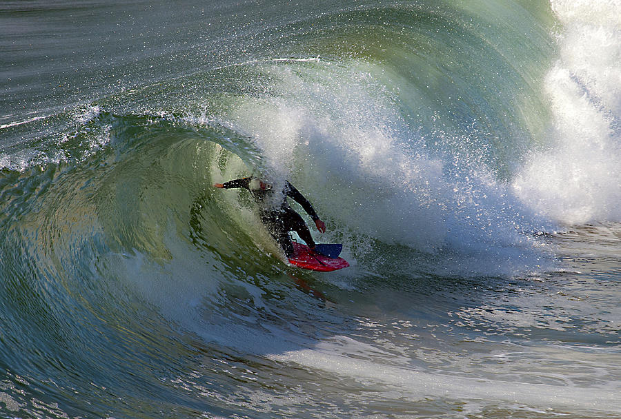 Surf Photograph - Curled by Joe Schofield