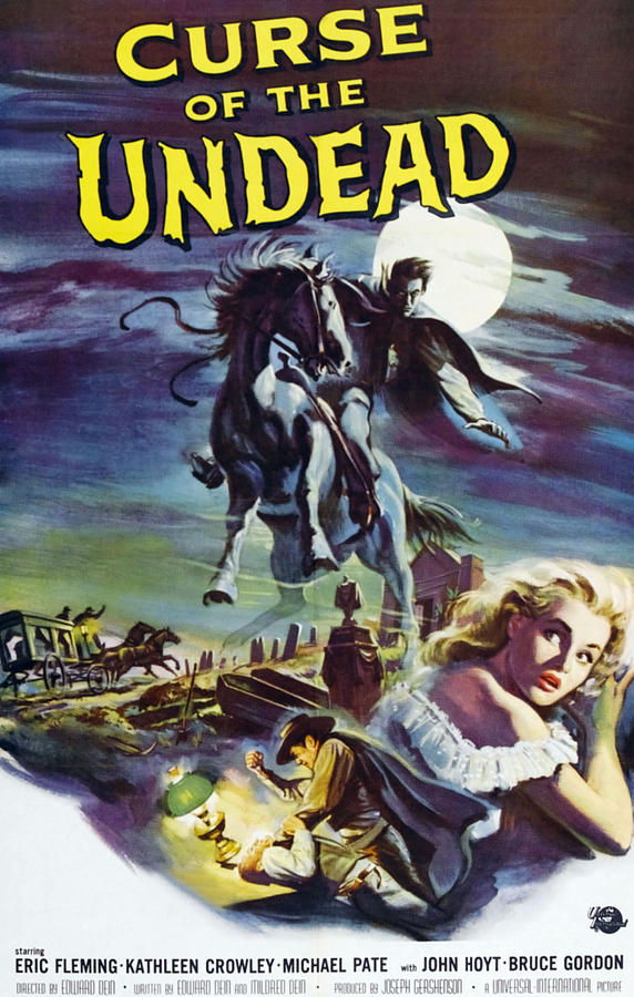 1959 Movies Photograph - Curse Of The Undead, Bottom Right by Everett
