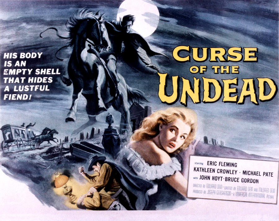 1959 Movies Photograph - Curse Of The Undead, Kathleen Crowley by Everett