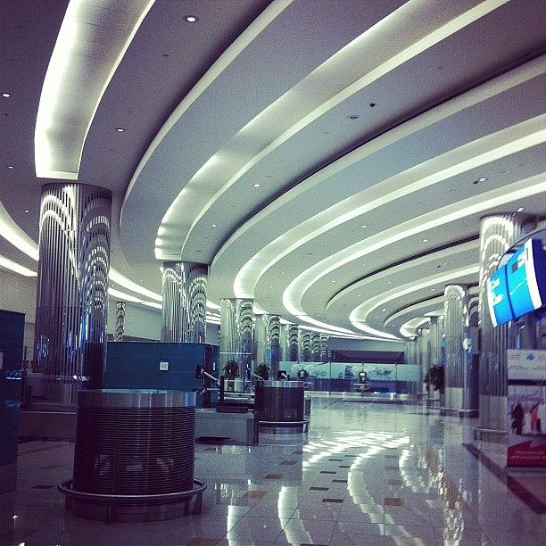 Curved Ceiling Lights In Dubai Airport Photograph By Jyothi Joshi