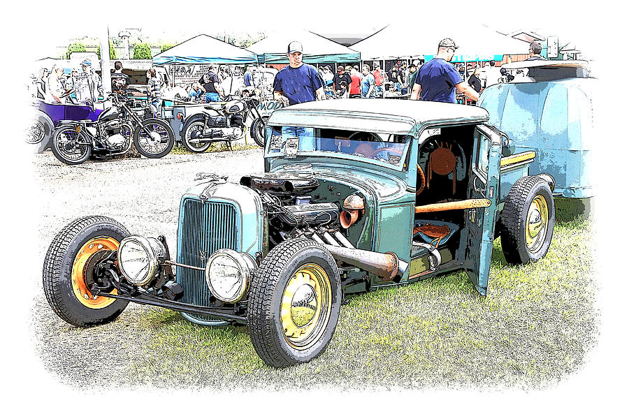 Chopped Photograph - Custom 32 Ford Pickup by Steve McKinzie